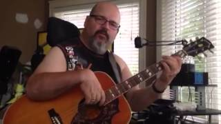 "Mike Parker sings ""Hank Williams Sr. You win again"". The ol' Gibson still sounds great.."
