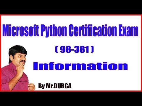 Microsoft Python Certification (98-381) Information by DURGA ...
