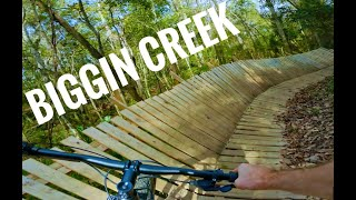 Biggin Creek Mountain Bike Trail is a great hidden gem with excellently built features!