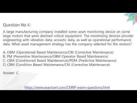 CMRP Exam Questions - YouTube
