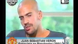 Juan Sebastian Veron interview in Manchester Utd 2001  FUTBOL RETRO TV