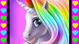 Ухаживаем за лошадкой, пони и единорогом! Детские мультики про животных. Мультфильмы для детей.