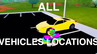 ALL VEHICLES LOCATIONS IN JAILBREAK - Roblox