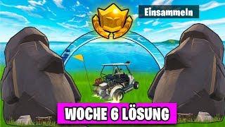 🗿 Fortnite Suche STEIN KÖPFE 🗿 Zeitliche Herausforderung   Woche 6 Season 5 BattlePass Deutsch