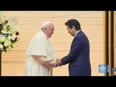 Le pape François rencontre le premier ministre du Japon