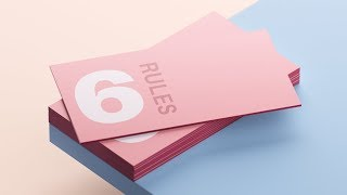 6 Golden Rules For Business Card Design (QUICK FIRE TIPS)