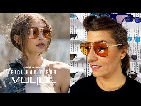Revisamos la colección de gafas de sol y gradudadas de Gigi Hadid para Vogue