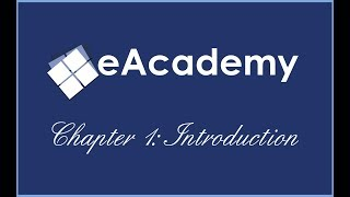 eAcademy | Chapter 1: Introduction