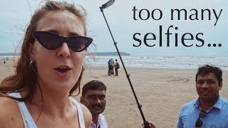 WHY DO THEY WANT A PHOTO WITH ME?!!? | Beach life in Goa