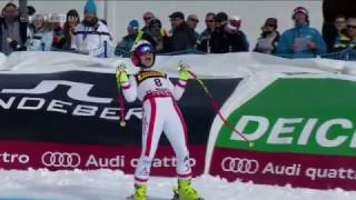 Super G  Nicole Schmidhofer AUT Gold Bei SKI WM  Sensation Ski WM Super G Damen