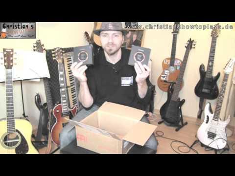 Unboxing D`addario Saiten Lieferung zum Verlosen Akustik und E Gitarre