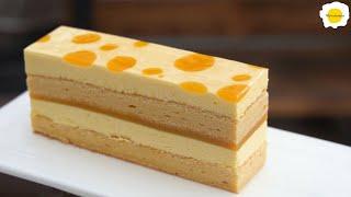 Mango Chiffon Mousse Cake 芒果戚风慕斯蛋糕 Mousse et Gâteau mousseline à la mangue