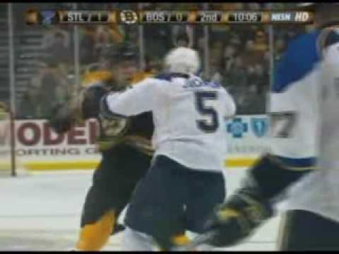 Barret Jackman vs Milan Lucic