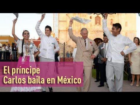 El príncipe Carlos se arranca a bailar una danza nacional en México