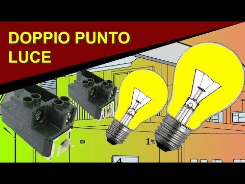 Come realizzare un doppio punto luce con due interruttori per comandare due lampade