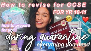 ULTIMATE GCSE ADVICE VIDEO for yr 10 moving to yr11, how to prepare for yr 11, how to revise!! 🤓
