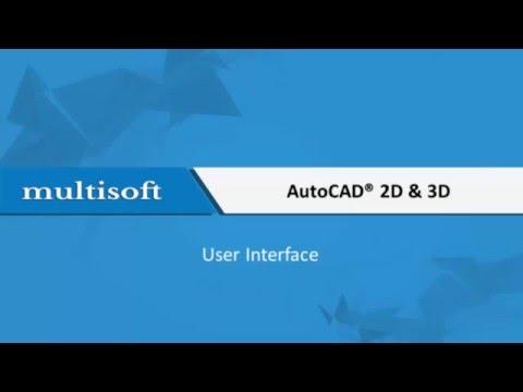 AutoCAD User Interface Training