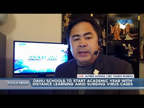 [EagleNewsPH]  Oahu schools to start academic year with distance learning amid  surging virus cases