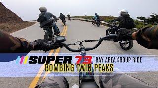 Bay Area Super73 Group Ride Bombs Twin Peaks | GoPro Hero 7 FPV Bodycam Footage