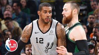 LaMarcus Aldridge scores 48 points in double-double effort   Spurs vs. Celtics   NBA Highlights
