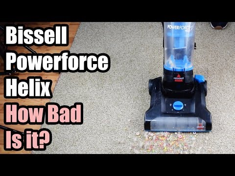 Bissell Powerforce Helix Review – How BAD Is it? – Bagless Vacuum Cleaner