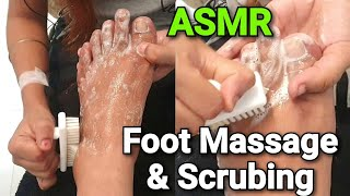 ASMR Foot Massage With Pedicure & Scrubbing |foot Reflexology | Cleansing | Skin Care