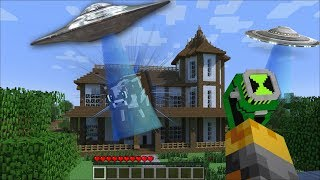 SCARY ALIENS APPEAR IN MY HOUSE IN MINECRAFT !! Minecraft Mods