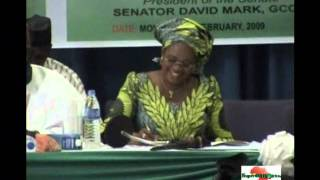 preview picture of video 'Nigeria: Leaders Keep to Time! - David Mark'