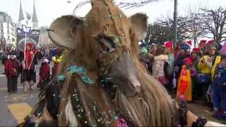 preview picture of video 'Luzerner Fasnacht 2015: LIVE: Fritschi – Umzug'
