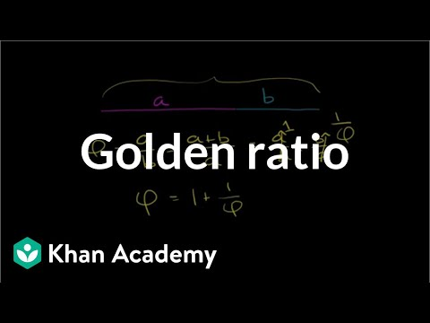 The golden ratio (video) | Lines | Khan Academy