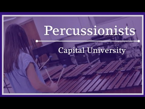 Percussionists at Capital University