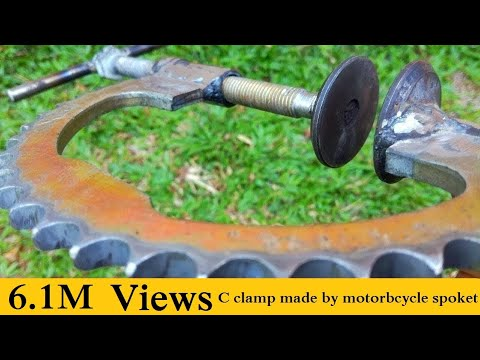 C clamp made by motorbcycle spoket