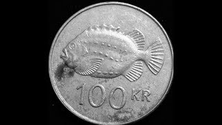 100 Kronur Coin Iceland 1995