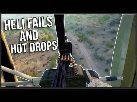 HELICOPTER FAILS AND HOT LZ'S IN SQUAD v16!