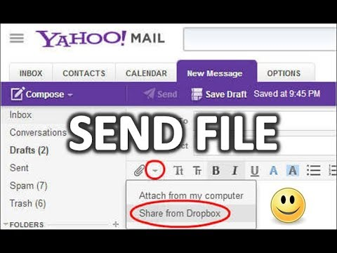 how to send email on yahoo with file attachment 2017