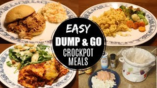 DUMP & GO CROCK POT MEALS // QUICK AND EASY CROCK POT RECIPES // BUDGET FRIENDLY