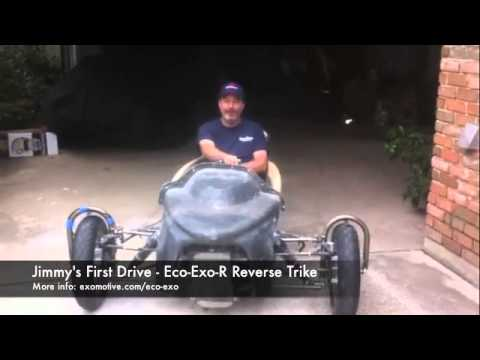 Jimmy's Custom Eco-Exo-R Reverse Trike from Exomotive [Video