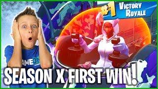 SEASON X FIRST VICTORY ROYALE!