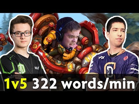 Timbersaw 1vs5 jukes — ODPixel goes ham 322 words/min casting