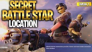 WEEK 1 SECRET BATTLE STAR LOCATION GUIDE! - Fortnite Find the Secret Battle Star in Loading Screen 1