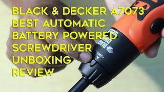Black & Decker A7073 Battery Powered Screwdriver Unboxing Review