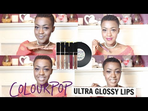 Colourpop Kiss and Tell Collection - Ultra Glossy Lip Swatches (Dark Skin)
