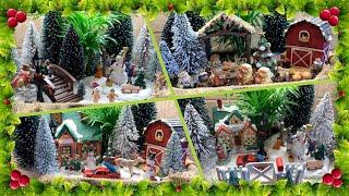 Christmas & Winter Themed Mini Gardens Done 4 Ways! ❄️🎄🚗⛄️❄️