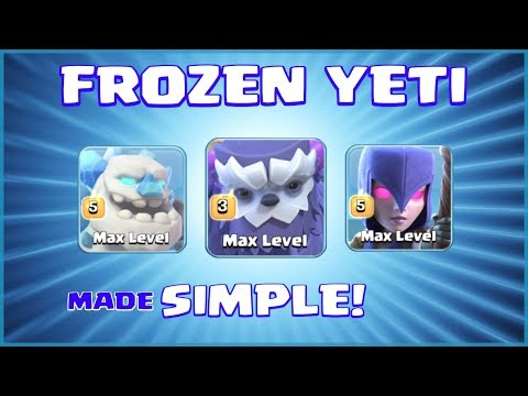 *UNSTOPPABLE* NEW TH13 ATTACK STRATEGY - FROZEN YETI = WOW! - Clash of Clans