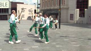 preview picture of video 'Sheffield City Morris perform outside Crucible (8/7/2012)'