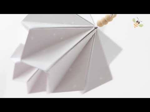 BORN copenhagen origami mobile dusty lavendel - wit