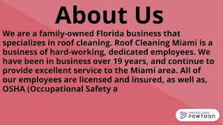 Seeking Roof Cleaning in Miami