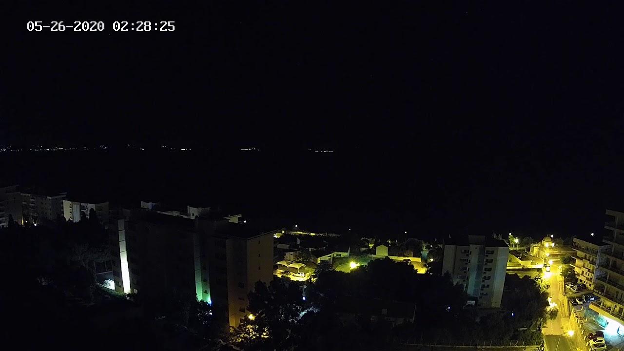Webcam avec vue sur la mer méditerranée depuis les hauteurs d'Ajaccio