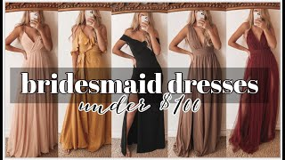 7 Bridesmaid Dresses Under $100 | Try-on Haul!