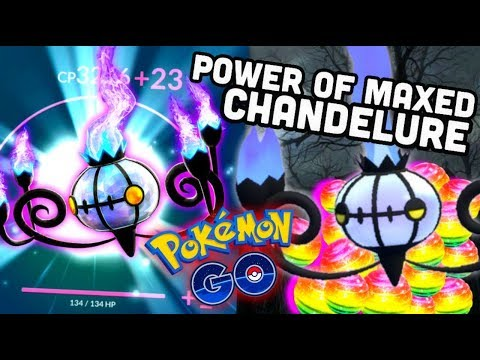 THE POWER OF MAXED CHANDELURE IN POKEMON GO | FEAR THE REAPER